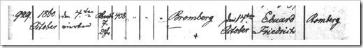 MILLER, Eduard Baptism Register (Page 1)