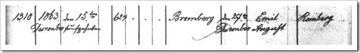 MILLER, Emil Baptism Register (Page 1)
