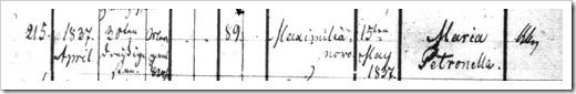 WOJAHN, Maria 9413 - 1837 Baptism Register (Page 1)