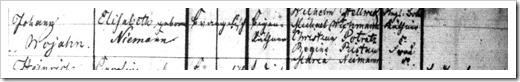 WOJAHN, Maria 9413 - 1837 Baptism Register (Page 2)