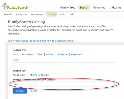 FamilySearch/FHL Catalog: Ask & You Shall Receive?